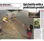 epic battle with prehistoric predator