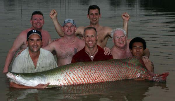 Dr.Zeb Hogan estimated 100kg+ Arapaima gigas IT Monster predator Lake in Ratchaburi