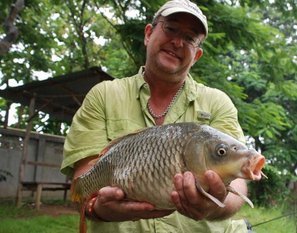 14lb Common Carp caught from Dream Lake in Chiang Mai by Brendan.