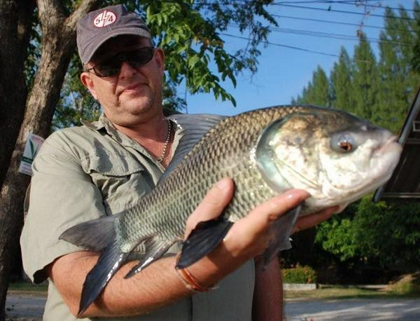 10lb Catla Catla caught by Brendan at Cha Am Fishing Park.