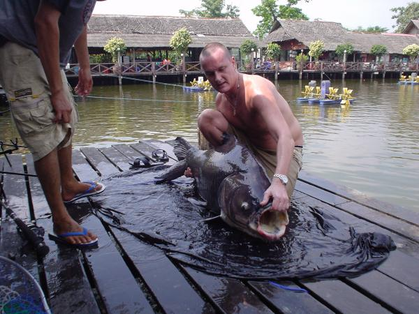 Giant siamese carp caught from Bungsamlan Lake Bangkok 49kg+