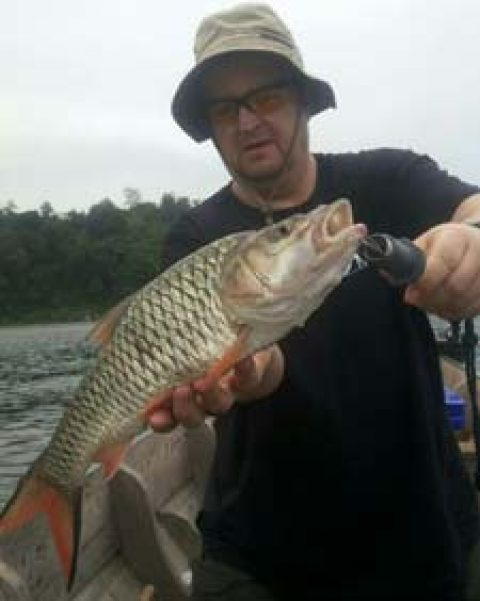 Wild freshwater fishing in Thailand at Khao Laem Dam