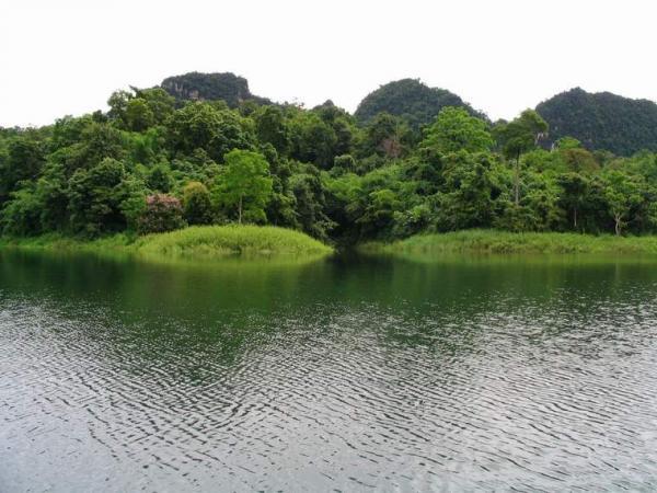Khao Laem Dam in Kanchanaburi province.