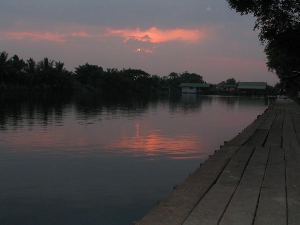 Sunset at Now Nam Lake near Bangkok.