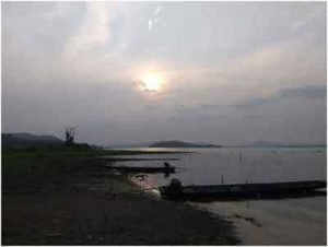 Khlong yai dam scenery